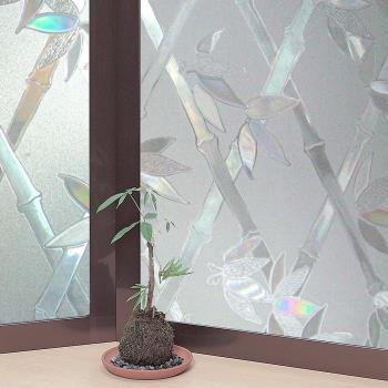 日本MEIWA節能抗UV靜電3D窗貼 (竹籬意象) 46x100公分