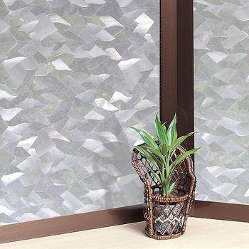 日本MEIWA節能抗UV靜電3D窗貼 (片片星鑽) 46x200公分