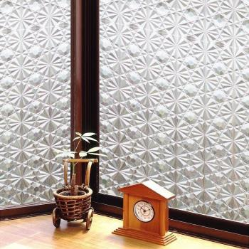 日本MEIWA節能抗UV靜電3D窗貼 (萬花齊放) 46x100公分