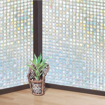 日本MEIWA節能抗UV靜電3D窗貼 (馬賽克) 46x100公分
