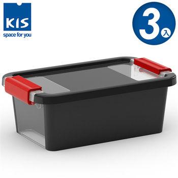 【義大利KIS創意收納】BI BOX單開收納箱(XS) *3入-黑色
