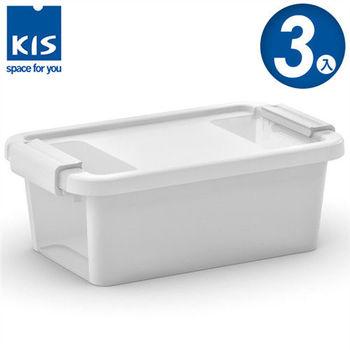 【義大利KIS創意收納】BI BOX單開收納箱(XS) *3入-白色