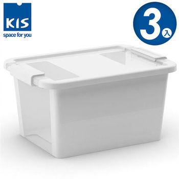 【義大利KIS創意收納】BI BOX單開收納箱(S) *3入-白色
