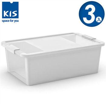 【義大利KIS創意收納】BI BOX單開收納箱(M) *3入-白色