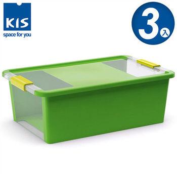 【義大利KIS創意收納】BI BOX單開收納箱(M) *3入-綠色