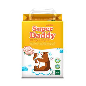 Super Daddy Original Fit Band L (8~12kg)超級爸爸 自然合身紙尿布 (22片)  4包