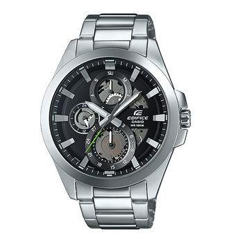 CASIO EDIFICE 機械狂人三眼造型運動腕錶-黑-ESK-300D-1A