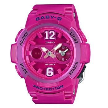 BABY-G 澀谷街頭女孩全新色調時尚限量腕錶-桃紅-BGA-210-4B2