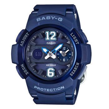 BABY-G 澀谷街頭女孩全新色調時尚限量腕錶-藍-BGA-210-2B2