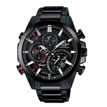 CASIO EDIFICE 全新藍牙爭霸戰智慧運動雙顯錶款-黑-EQB-500DC-1A