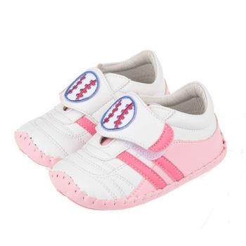 布布童鞋 天鵝牌手工好動寶寶俏粉紅台灣手工機能學步鞋 [ JA6068G] 粉紅款