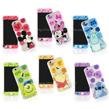 【Disney 】iPhone 6/6s 泡泡系列玻璃保護貼+彩繪保護軟套