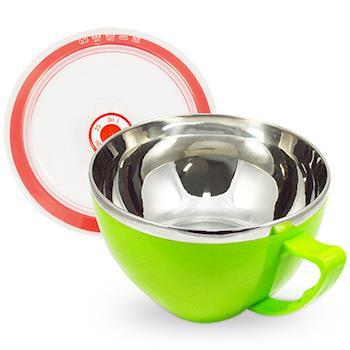 韓式雙層不鏽鋼泡麵碗900ml(蘋果綠)