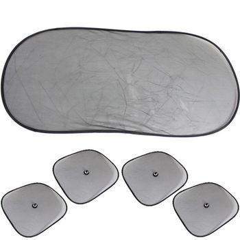 大橢圓遮陽板1入+小圓弧4入(2包)+機車氣泡遮陽墊1入