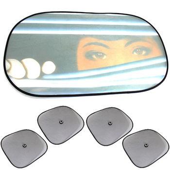 彩圖大橢圓遮陽板1入+小圓弧4入(2包)+機車氣泡遮陽墊1入