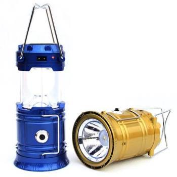 新款 太陽能充電 手提燈 家用應急燈 LED露營燈 可伸縮 可吊掛 可手提 可做行動電源