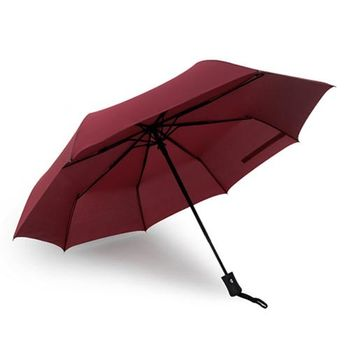 PUSH! 好聚好傘, 自動傘雨傘遮陽傘晴雨傘三摺傘I28-2酒紅