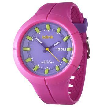 JAGA捷卡 AQ1008-G blink 果凍繽紛潮流防水指針錶(粉)