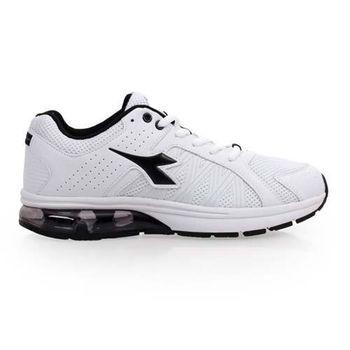 【DIADORA】男氣墊慢跑鞋-路跑 寬楦 運動鞋 休閒鞋 白黑