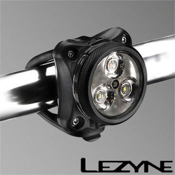 LEZYNE ZECTO DRIVE 專業版USB充電光學透鏡LED警示照明前後燈(黑)