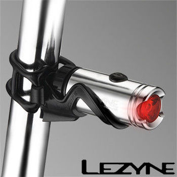 LEZYNE HECTO DRIVE USB充電光學透鏡LED都會騎乘照明警示後燈(亮銀)