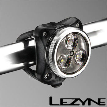 LEZYNE ZECTO DRIVE 專業版USB充電光學透鏡LED警示照明前後燈(銀)