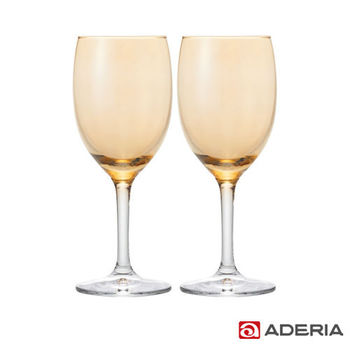 【ADERIA】日本進口葡萄酒專用玻璃對杯(橘)