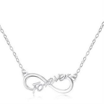 【米蘭精品】925純銀項鍊吊墜情人節獨特精緻優雅英文字母銀飾