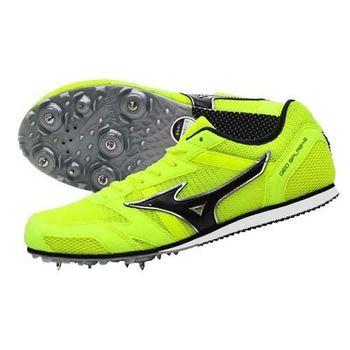 【MIZUNO】GEO SPLASH 6 男女田徑釘鞋- 中長距離 螢光黃黑