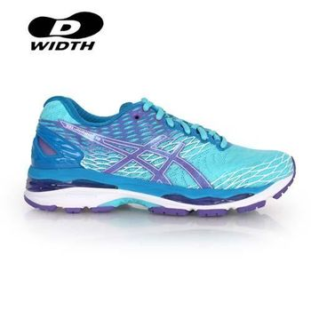 【ASICS】D GEL-NIMBUS 18 女慢跑鞋 - 寬楦 訓練  淺藍紫