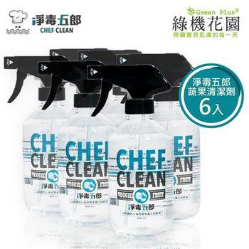 【綠機花園】淨毒五郎奶瓶蔬果清潔劑 6入組