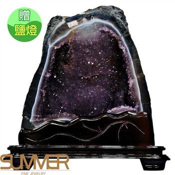 【SUMMER寶石】《10.8kg》巴西3A天然紫晶洞《加贈鹽燈》(1117-03)