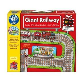 英國Orchard Toys幼兒地板大拼圖 鐵道 Giant Railway