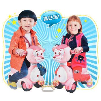 【孩子國】布隆家族聲光滑步車(粉紅拉拉版)~會說故事及唱歌哦~
