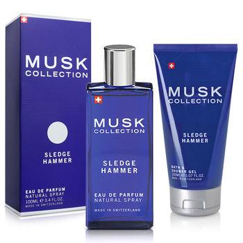 Musk Collection 瑞士 經典藍麝香男性淡香精(100ml)-送品牌沐浴精&紙袋