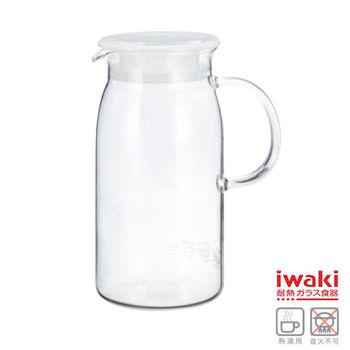 【iwaki】耐熱玻璃冷水瓶 600ml(白)