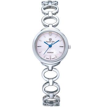 奧林比亞之星 Olympia Star- 真心相戀造型時尚腕錶(俏麗粉) 28023LS
