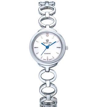 奧林比亞之星 Olympia Star- 真心相戀造型時尚腕錶(亮眼白) 28023LS
