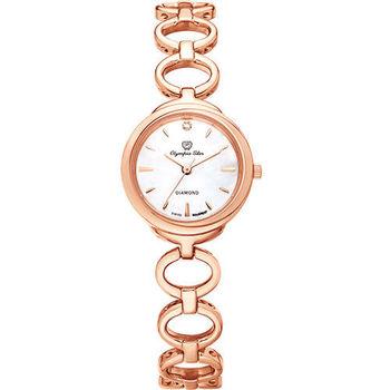 奧林比亞之星 Olympia Star- 真心相戀造型時尚腕錶(玫瑰金) 28023LR