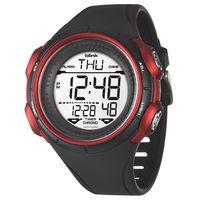 JAGA 捷卡 M1034 ^#45 AG blink 休閒型多 電子錶 ^#45 黑紅