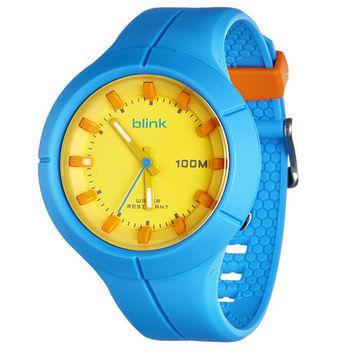 JAGA捷卡 AQ1008-E blink 果凍繽紛潮流防水指針錶(藍)
