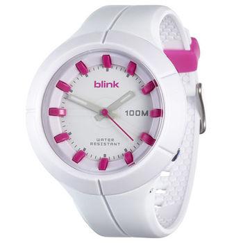 JAGA捷卡 AQ1008-D blink 果凍繽紛潮流防水指針錶(白)