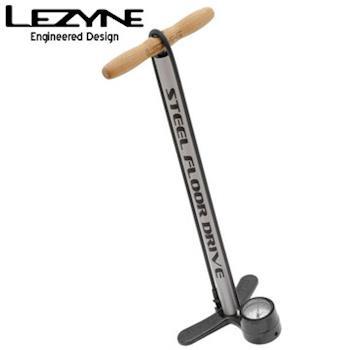 LEZYNE STEEL FLOOR DRIVE復古直立式打氣筒(銀管底座黑)