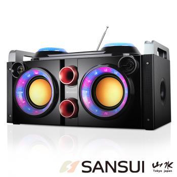 快-SANSUI山水音霸藍芽/廣播/USB/AUX/卡拉OK隨身音響(SBK777)