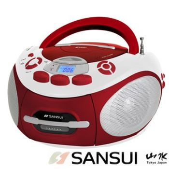 快-SANSUI山水CD/MP3/USB/SD/AUX/卡帶手提式音響(SC-85C)
