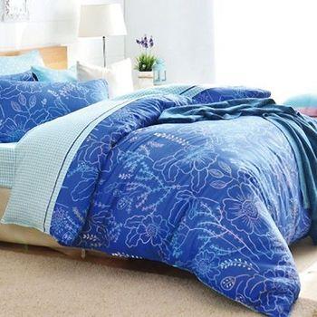 『Love City 寢城之戀』精梳純棉 雙人加大七件式兩用被床罩組(美麗陽光)