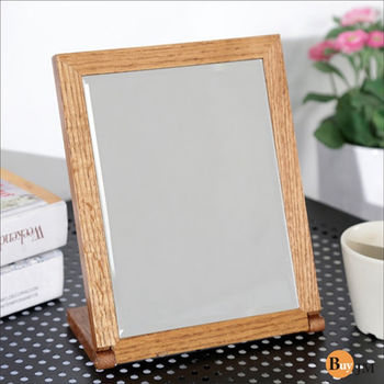 BuyJM 典雅實木長型桌鏡