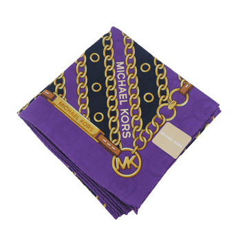 MICHAEL KORS皮帶斜鎖鏈帕巾(紫)
