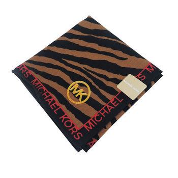 MICHAEL KORS斑馬紋帕巾(咖)