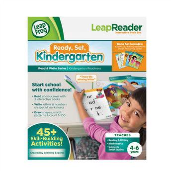 《LeapFrog 跳跳蛙》美國跳跳蛙LeapFrog-全英電子閱讀筆盒裝套書-準備上幼稚園寫字套組